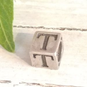 Jewelry - Vtg Solid 925 Sterling Silver Letter Cube Charm